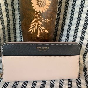 Large continental wallet Kate spade Cameron beige